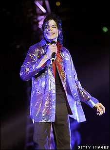 Michael Jackson during last show rehearsal at Staples Center in Los Angeles (Kevin Mazur/AEG/Getty Images )