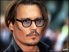 Johnny Depp at the UK premiere of Public Enemies