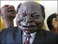 A Mwai Kibaki puppet