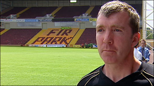 Motherwell manager Jim Gannon