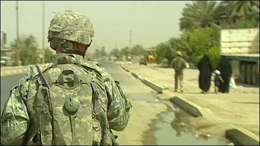 Soldier on patrol in Iraq