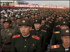 Military parade in Pyongyang 15.6.09