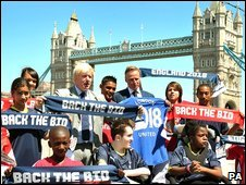 Boris Johnson at the London bid launch