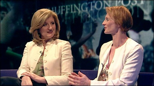 Arianna Huffington and Anne McElvoy