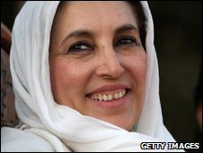 Former Pakistani President Benazir Bhutto on the day she was assassinated, 27 December, 2007
