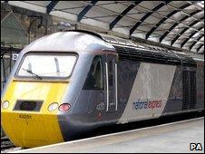 A National Express-operated East Coast line train