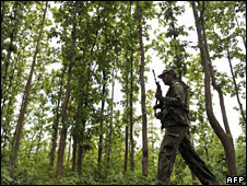 Security forces patrol Lalgarh