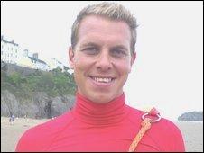 RNLI lifeguard Oli Simon
