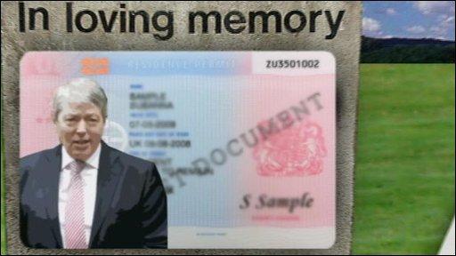 Alan Johnson ID card graphic