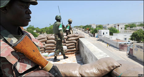 African Union troops in Mogadishu