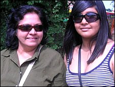 Diana Jayasekera and daughter Keshini