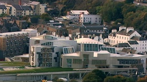 Scottish Parliament scene