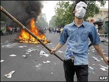 Protests in Tehran. Photo: June 2009