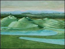 Artist's impression of Northumberlandia sculpture