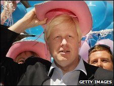 Boris Johnson at 2008 Pride festival