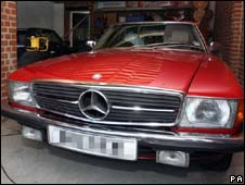 Mercedes car seized by police