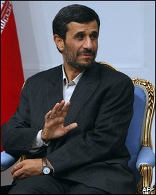 Mahmoud Ahmadinejad in a meeting on 30 June.