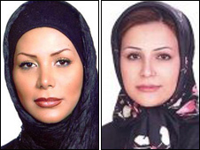 Neda Soltan (l) who was killed in Tehran and Neda Soltani from Iran