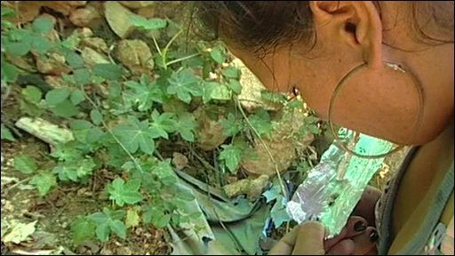 Woman using heroin