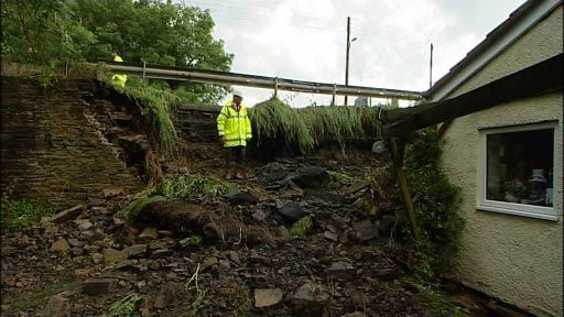 Scene of the bridge collapse