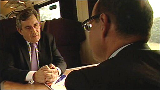 Gordon Brown with the BBC's Nick Robinson