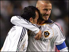 Landon Donovan (left) and David Beckham