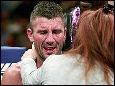 Wayne McCullough during a fight