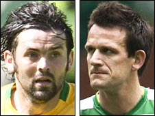 Paul Hartley and Jan Vennegoor of Hesselink
