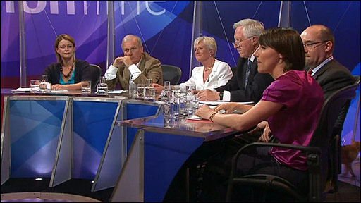 Tango on Question Time set