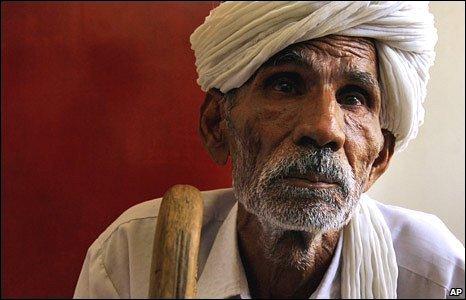 An elderly Indian man