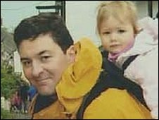 Lt Col Rupert Thorneloe with his daughter