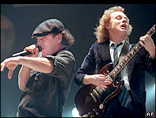 AC/DC stars Brian Johnson and Angus Young
