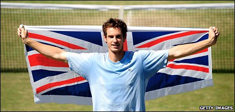 Andy Murray is the only British player left in the singles competition