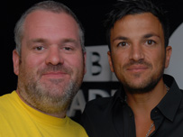 Chris Moyles and Peter Andre