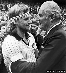 Fred Perry and Bjorn Borg