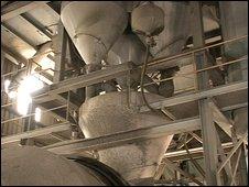 Concrete machine on Aggregate Industries site