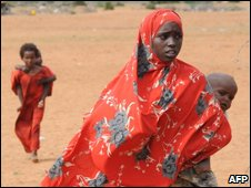 Somali refugees in Dadaab, north-eastern Kenya
