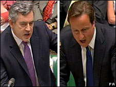 Gordon Brown and David Cameron