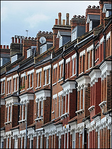 Terraced houses (Image: BBC)