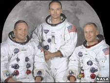 Neil Armstrong, Michael Collins and Buzz Aldrin (from left to right)