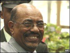 Omar al-Bashir in Sirte, Libya