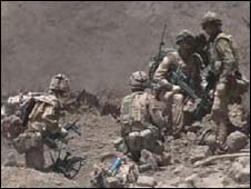 British troops on Operation Panther's Claw in Helmand