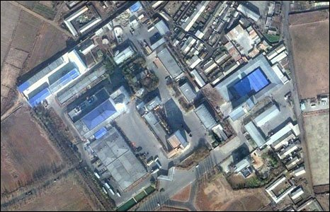 An aerial view of the brewery in North Korea which houses plant from Ushers in Trowbridge