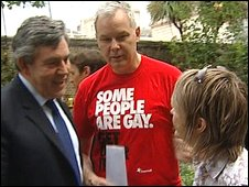 Gordon Brown with Pride organisers