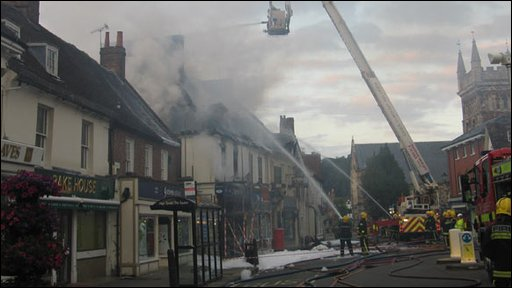 The fire in Wimborne