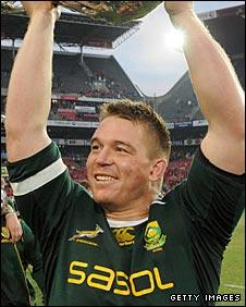 Springboks captain John Smit