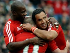 Ugo Monye, Shane Williams and Riki Flutey