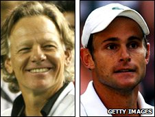 Larry Stefanki and Andy Roddick