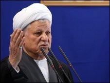 Former president Akbar Hashemi Rafsanjani