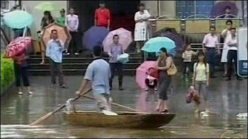 People in the floods